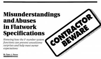 Article cover with 'Contractor Beware' stamp.