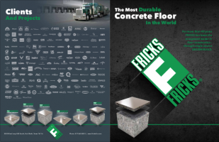 Outside view of Fricks Concrete Floor brochure.