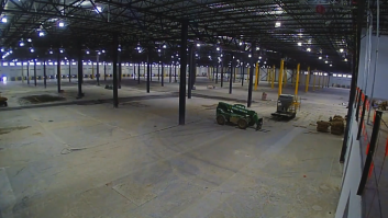Time lapse photo of highly-durable Fricks FDT Topping Dewater Traprock floor in Virginia.