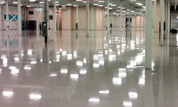 Image of shiny empty concrete floor.